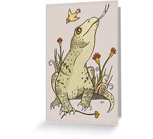 King Komodo Greeting Card