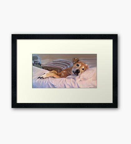 Penny Girl Framed Print