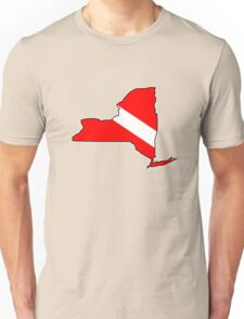 Dive flag New York outline T-Shirt