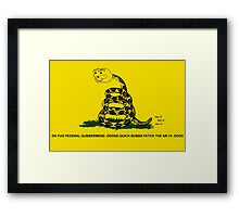 oh fugg bubba Framed Print