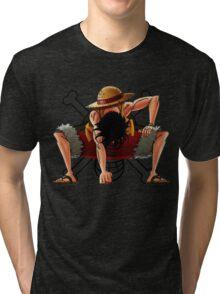 Luffy the Pirates 034 - Onepiece Tri-blend T-Shirt