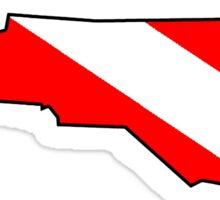Dive flag North Carolina outline Sticker