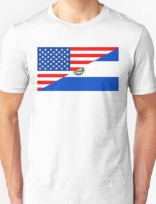 usa el salvador half flag Unisex T-Shirt