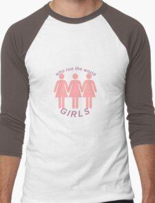 Beyoncé Who Run The World Design - International Women's Day 2016 Men's Baseball ¾ T-Shirt