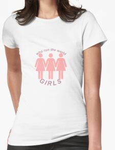Beyoncé Who Run The World Design - International Women's Day 2016 Womens Fitted T-Shirt