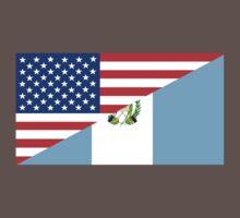 usa Guatemala half flag Baby Tee