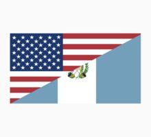 usa Guatemala half flag Kids Tee
