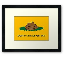 dont tread on poo Framed Print