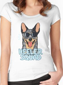 HEELER SQUAD (blue) Women's Fitted Scoop T-Shirt