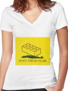 dont tread on legos Women's Fitted V-Neck T-Shirt