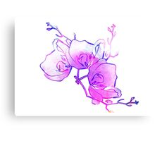 ink watercolour flower Canvas Print
