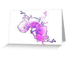 ink watercolour flower Greeting Card