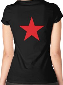 Red Star, STAR, Stardom, Power to the people! Red Dwarf, Stellar, Cosmic, on BLACK Women's Fitted Scoop T-Shirt
