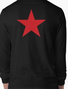 Red Star, STAR, Stardom, Power to the people! Red Dwarf, Stellar, Cosmic, on BLACK Long Sleeve T-Shirt