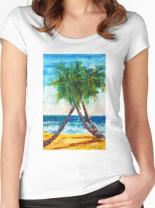 South Beach Palms Women's Fitted Scoop T-Shirt