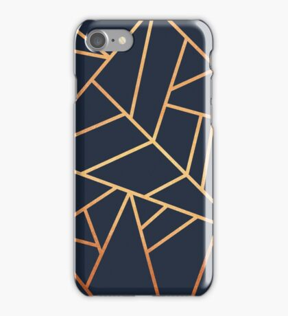 Copper and Midnight Navy iPhone Case/Skin