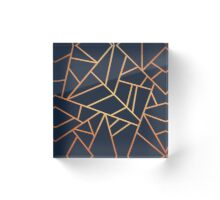 Copper and Midnight Navy Acrylic Block