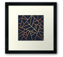 Copper and Midnight Navy Framed Print