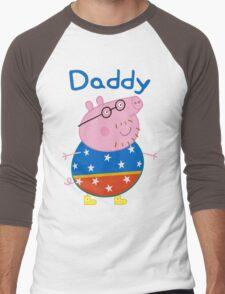 Daddy Pig 2 Men's Baseball ¾ T-Shirt