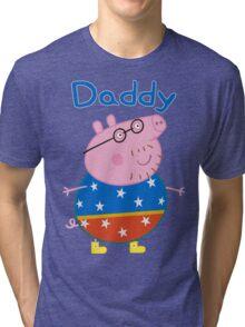 Daddy Pig 2 Tri-blend T-Shirt