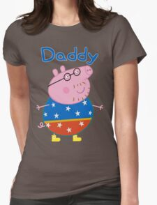 Daddy Pig 2 Womens Fitted T-Shirt