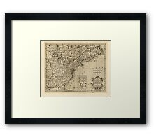 American Revolutionary War Era Maps 1750-1786 172 A new map of the British Dominions in North America with the limits of the governments annexed thereto by Framed Print