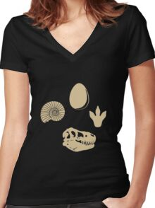 Fossil Love Women's Fitted V-Neck T-Shirt