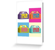 Taco Bell Pop Art Greeting Card