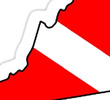Dive flag Virginia outline Sticker