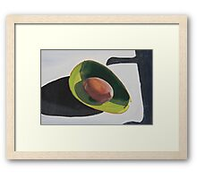 Avocado And Shadows Painting Framed Print