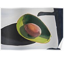Avocado And Shadows Painting Poster