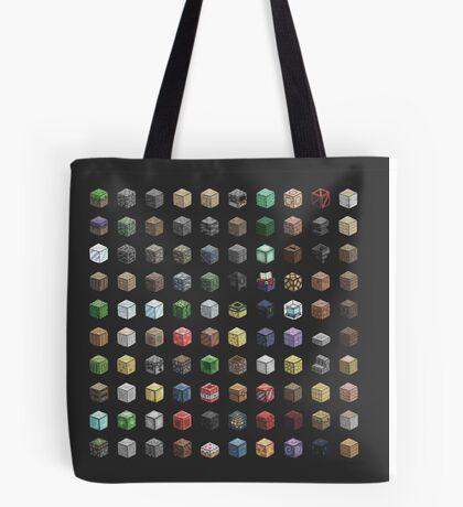 100 Minecraft Blocks Tote Bag