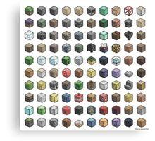 100 Minecraft Blocks Canvas Print