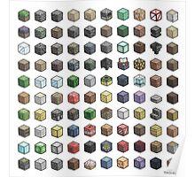 100 Minecraft Blocks Poster