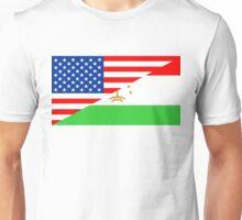 usa Tajikistan half flag Unisex T-Shirt