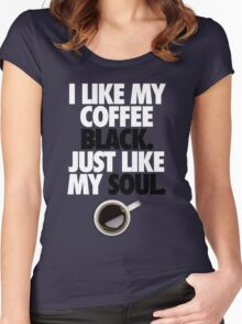 COFFEE BLACK SOUL Women's Fitted Scoop T-Shirt