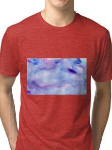 Blue Water Colour Tri-blend T-Shirt