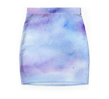 Blue Water Colour Mini Skirt