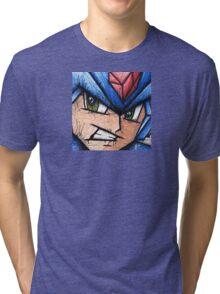 Mega Man the Blue Bomber Tri-blend T-Shirt