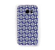 Ikat modern indigo blue abstract patiently brushstrokes painting pattern print Samsung Galaxy Case/Skin