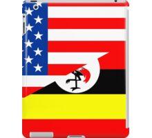 usa uganda half flag iPad Case/Skin