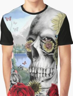 Nature skull landscape Graphic T-Shirt