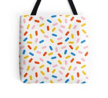 Sprinkles modern minimal abstract simple retro throwback 1980's style neon primary colors dots  Tote Bag