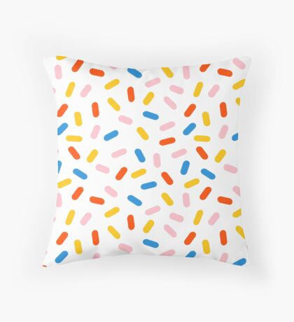 Sprinkles modern minimal abstract simple retro throwback 1980's style neon primary colors dots  Throw Pillow