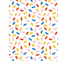 Sprinkles modern minimal abstract simple retro throwback 1980's style neon primary colors dots  Photographic Print