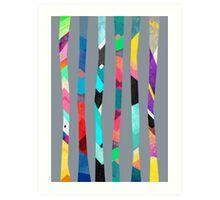 Trees / Grey Art Print