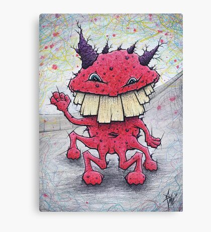 Friendly Red Monster Canvas Print
