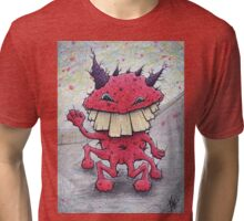 Friendly Red Monster Tri-blend T-Shirt