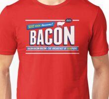 Funny Bacon Shirt   Breakfast of Hampions   Bacon Lover Unisex T-Shirt