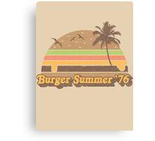 Burger Summer '76 Canvas Print